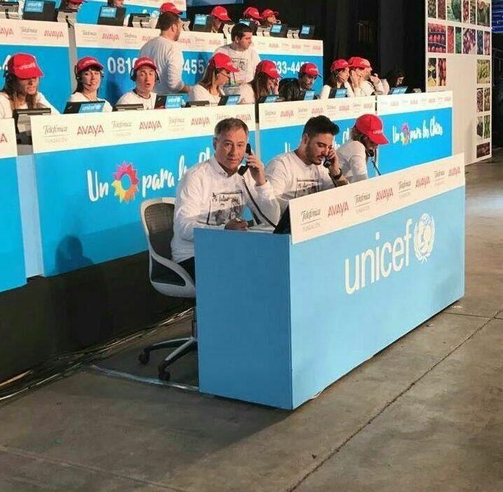 Holan participó de la campaña de Unicef por el Día del Niño