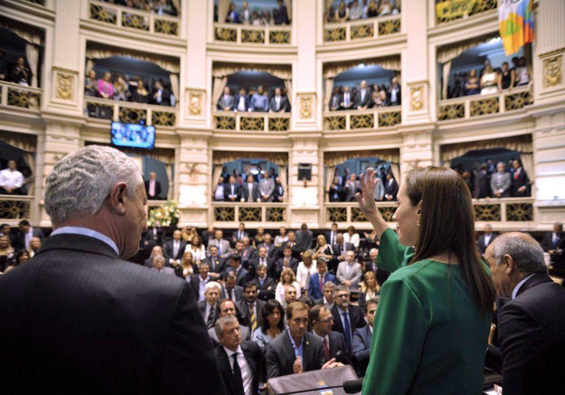 Legislatura bonaerense sancionó elpresupuestoque pidió Vidal