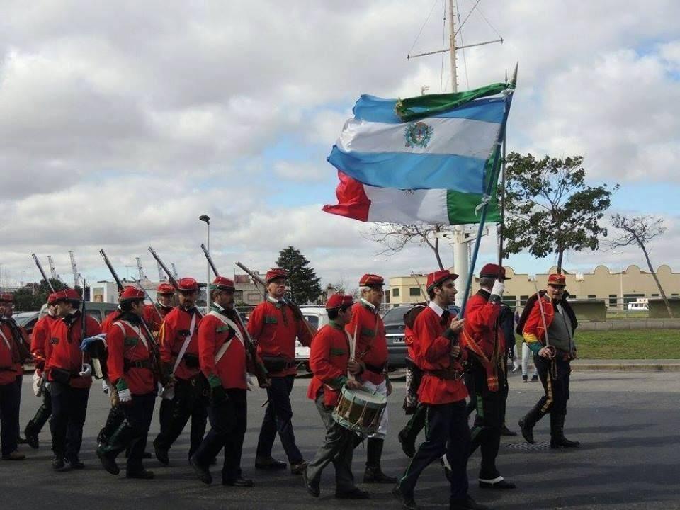 Inmigrantes unidos con la Legión Italiana de La Boca