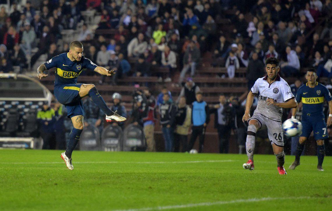 Apareció Benedetto y Boca gritó fuerte ante Lanús cerca del final