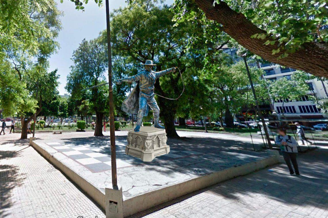 Quieren erigir una estatua de El Zorro en Mar del Plata