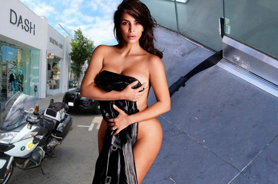 Asaltan local de Kim Kardashian y dejan un machete en la puerta