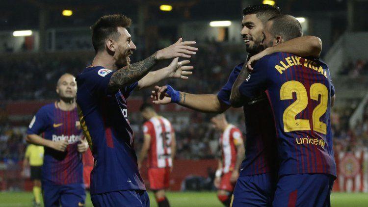 Barcelona goleó a Girona como visitante y sigue en la cima