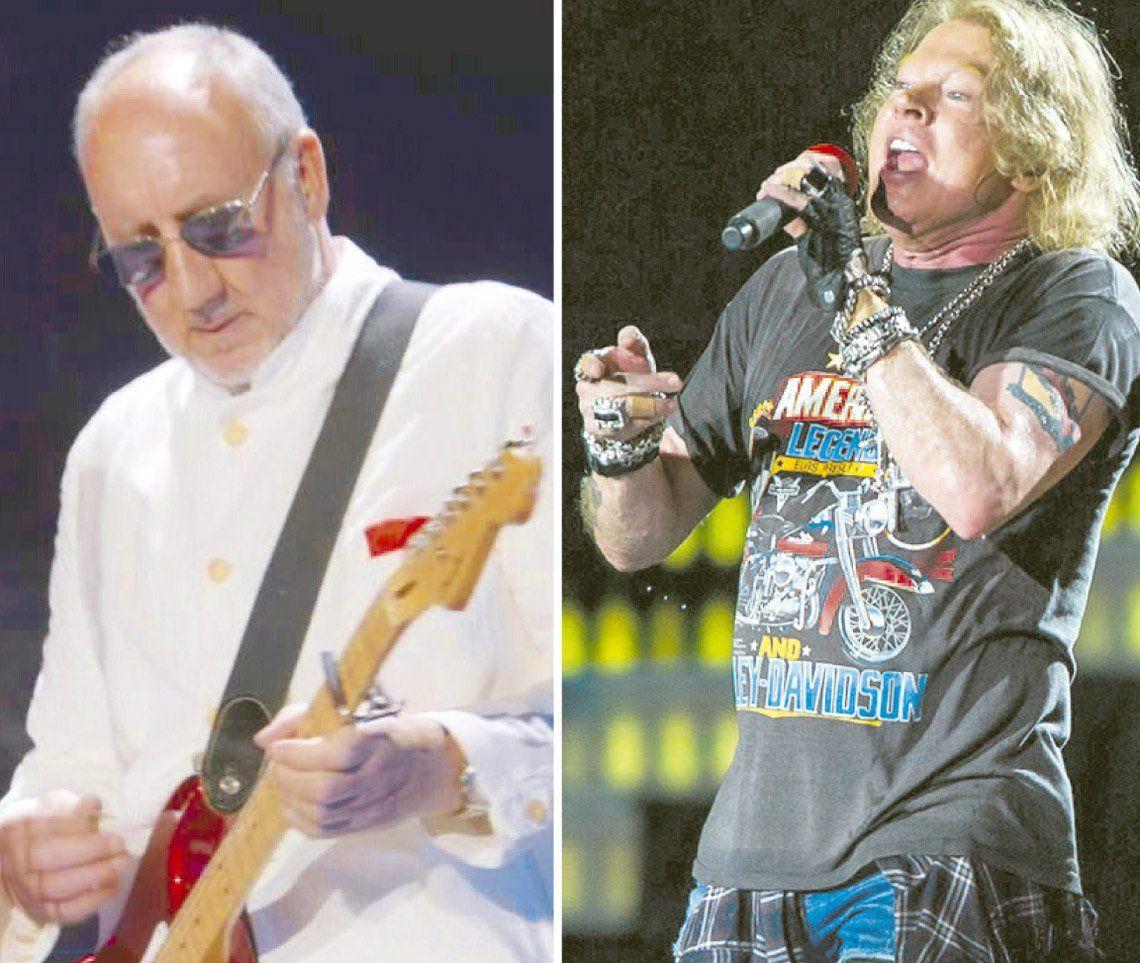 The Who y Guns N Roses, juntos en La Plata