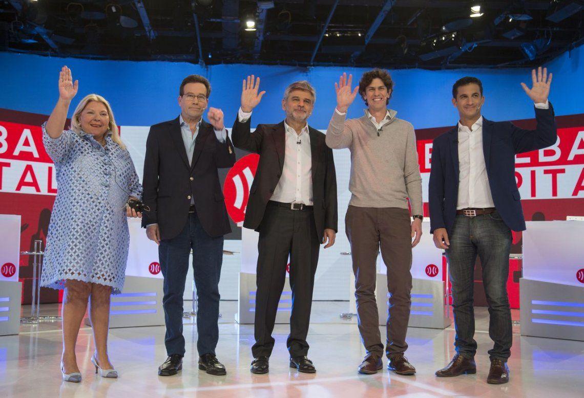 Picante debate de los candidatos de la Ciudad