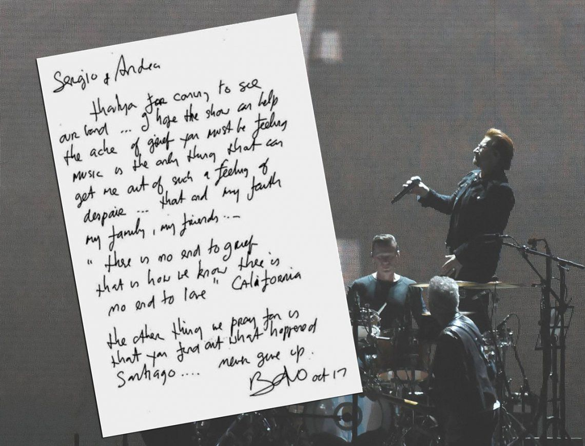 La carta que Bono le escribió a Sergio Maldonado
