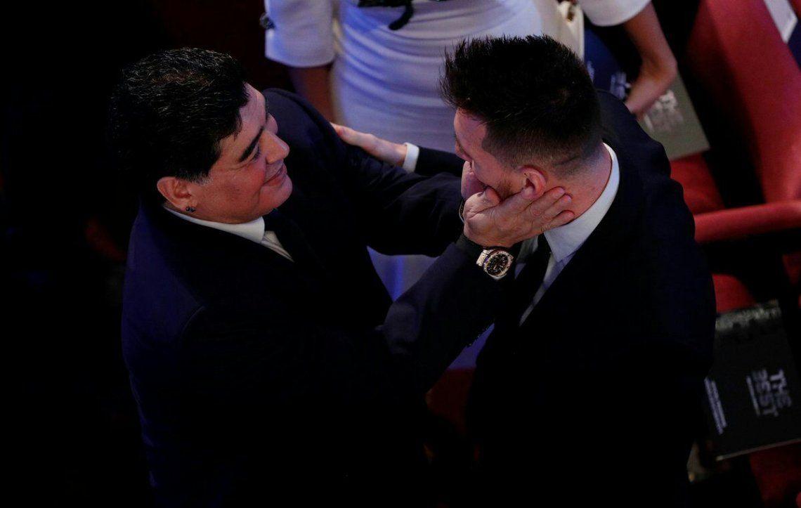 Messi: Me pone muy contento que Diego haya vuelto, lo disfrutaba mucho
