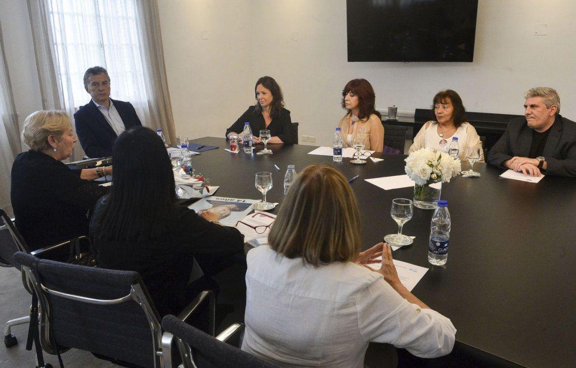 Macri recibió a las Madres del Dolor, con eje en los derechos de las víctimas