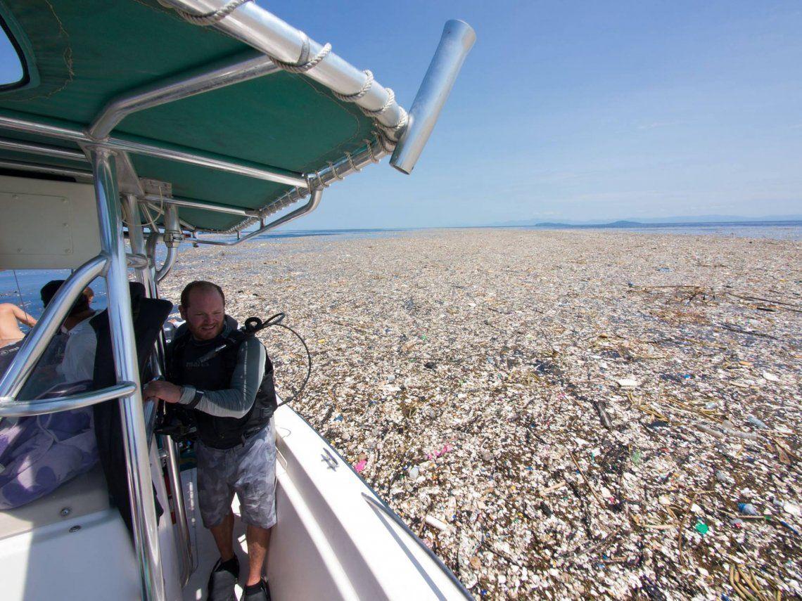 Impactantes imágenes muestran un mar de plástico en el Caribe