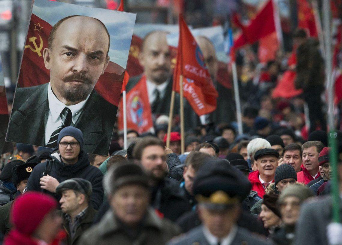 Celebraron el centenario de la Revolución Bolchevique en Rusia