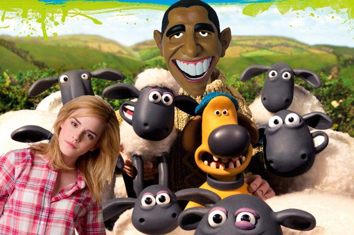 Obama y Emma Watson entre los famosos más reconocidos por... ¡ovejas!