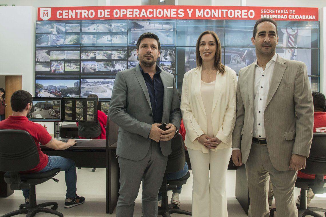 Vidal y Tagliaferro inauguraron el nuevo Centro de Monitoreo
