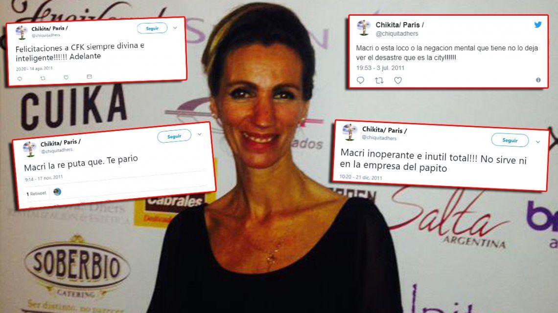 Cristina sos la mejor presidenta y Macri inoperante total: el insólito pasado militante de la cheta de Nordelta