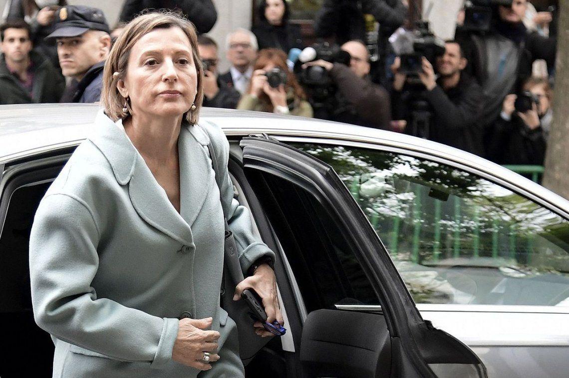 Dictan cárcel para presidenta del Parlamento de Cataluña