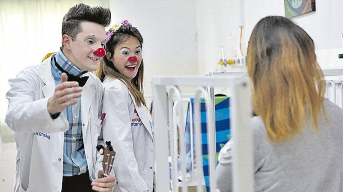 La destacada tarea de los payasos de hospital
