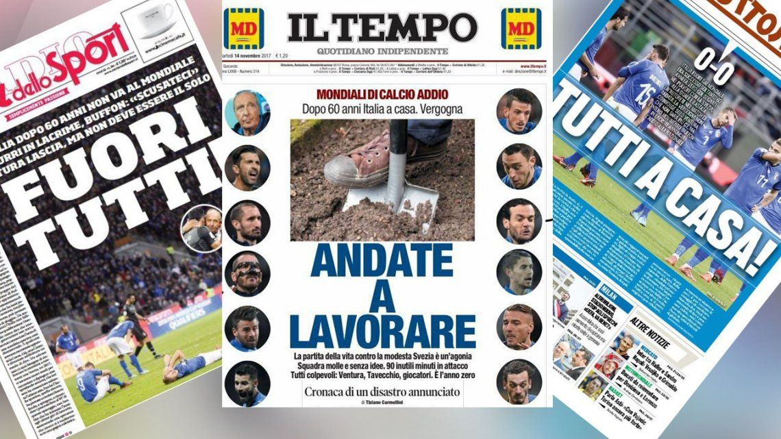 Vayan a laburar, el enojo de los medios italianos con su selección