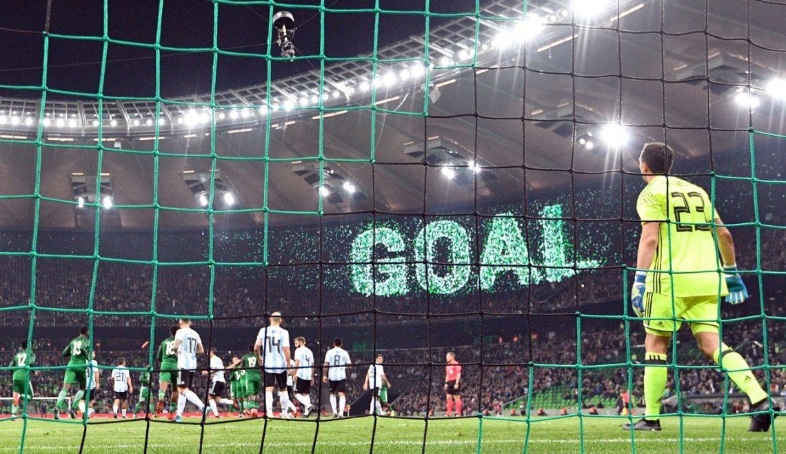 Los goles de la dura derrota de Argentina frente a Nigeria
