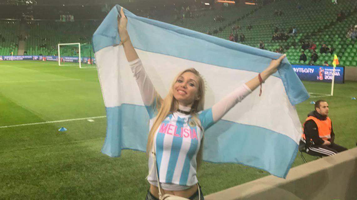 Conocé a Melisia, la hincha hot de River que acompañó a la Selección a Rusia