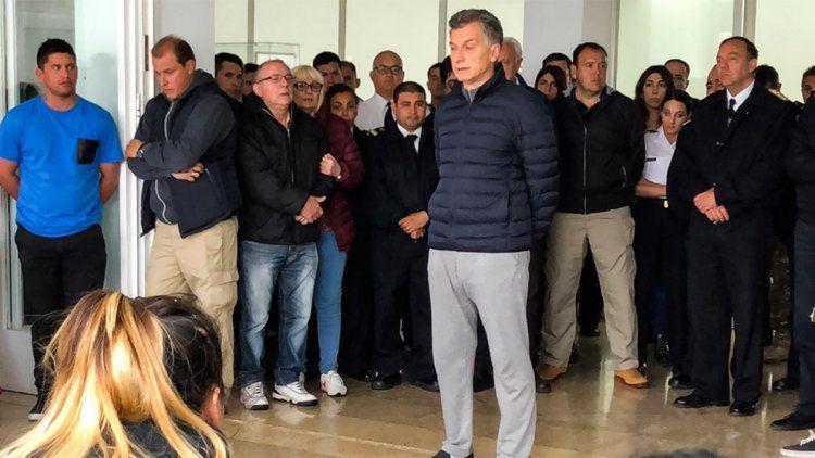 Macri visitó a los familiares de la tripulación del ARA San Juan