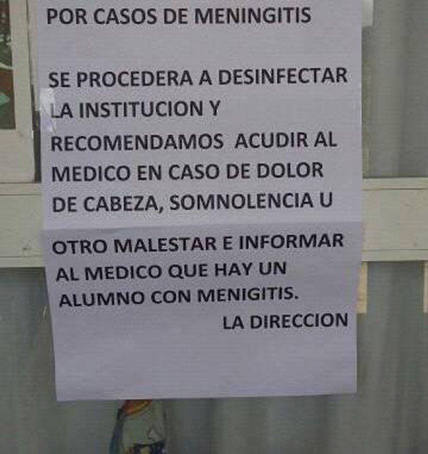 Alerta por nuevos casos de meningitis en Varela