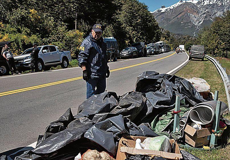 dParte de los elementos secuestrados a los mapuches en el procedimiento.