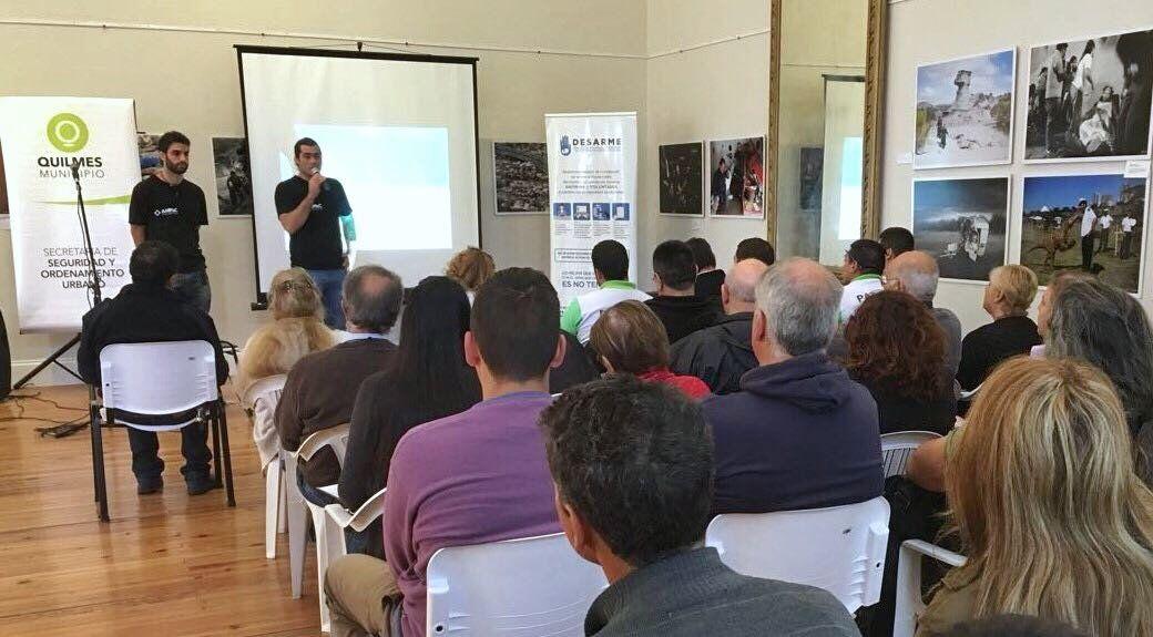 El programa nacional de desarme llega a Quilmes