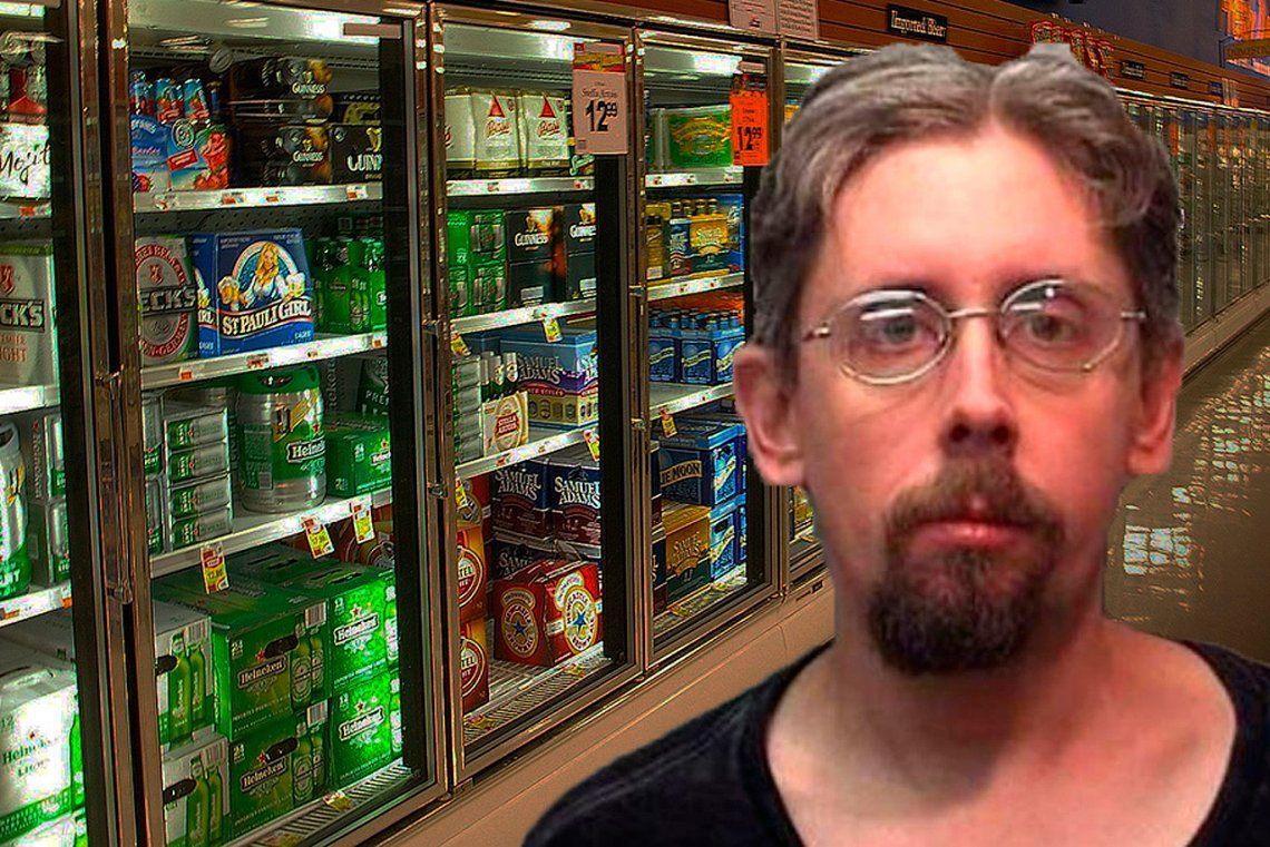 Estuvo 6 horas encerrado  en una heladera para cervezas