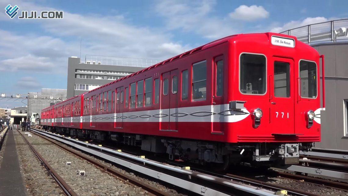 En Japón restauraron coches que eran de la Línea B porteña