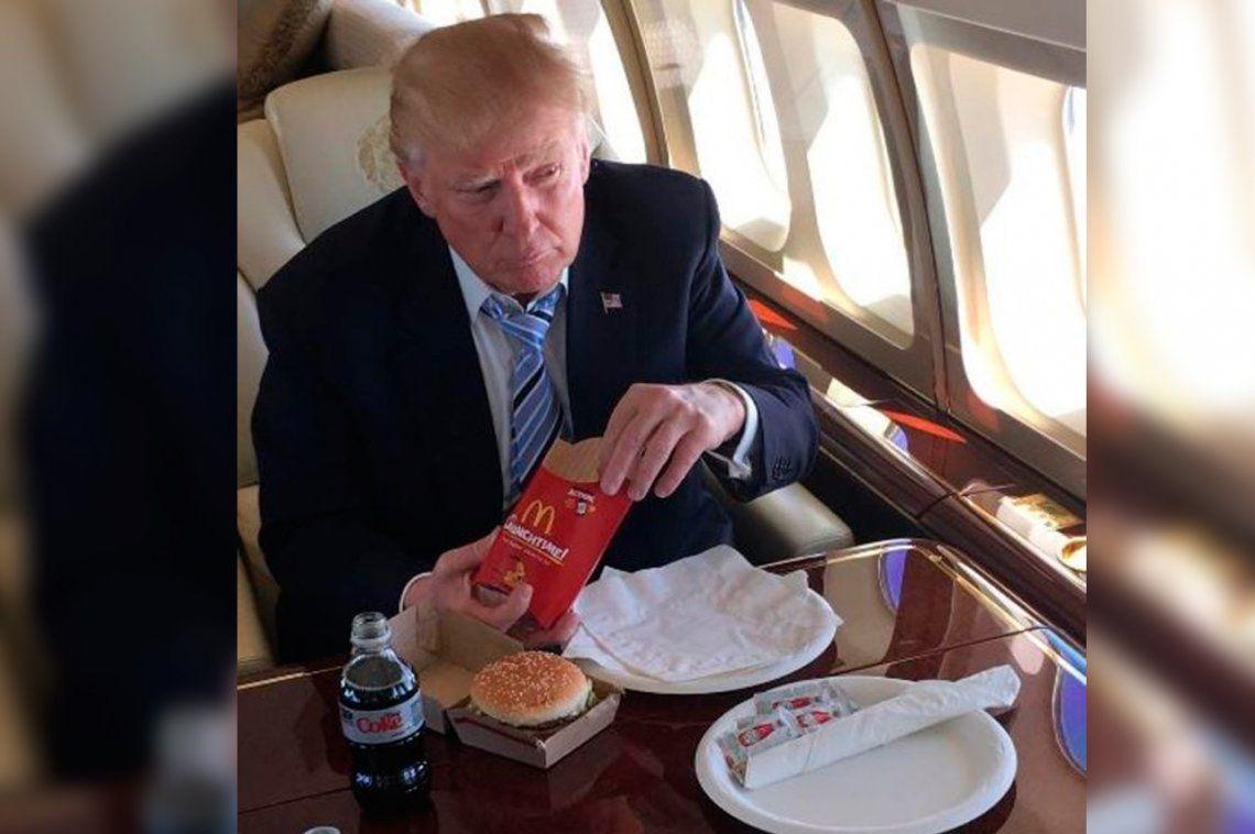 Revelaron detalles insalubres de la dieta McDonald´s que come Trump