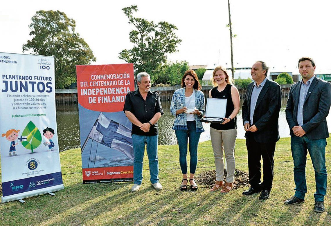 dHubo autoridades del municipio de Tigre y representantes del país europeo.