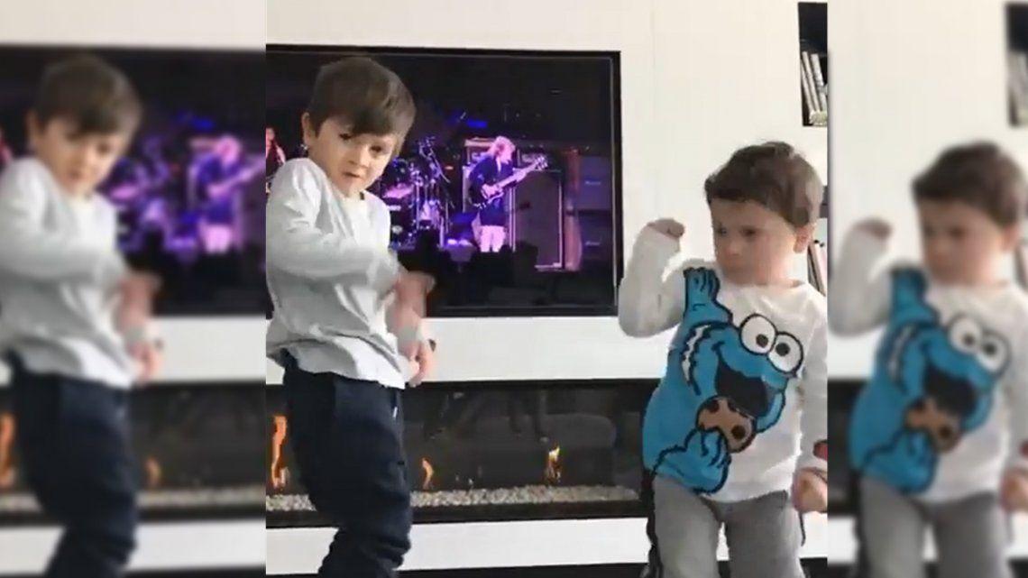 Video | Los hijos de Messi la rockean al ritmo de AC-DC