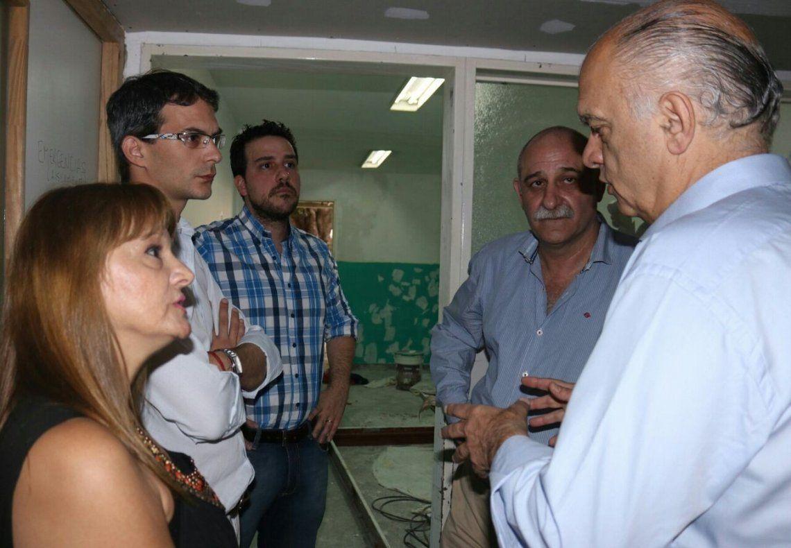 Recorrida por los trabajos en el Hospital Narciso López