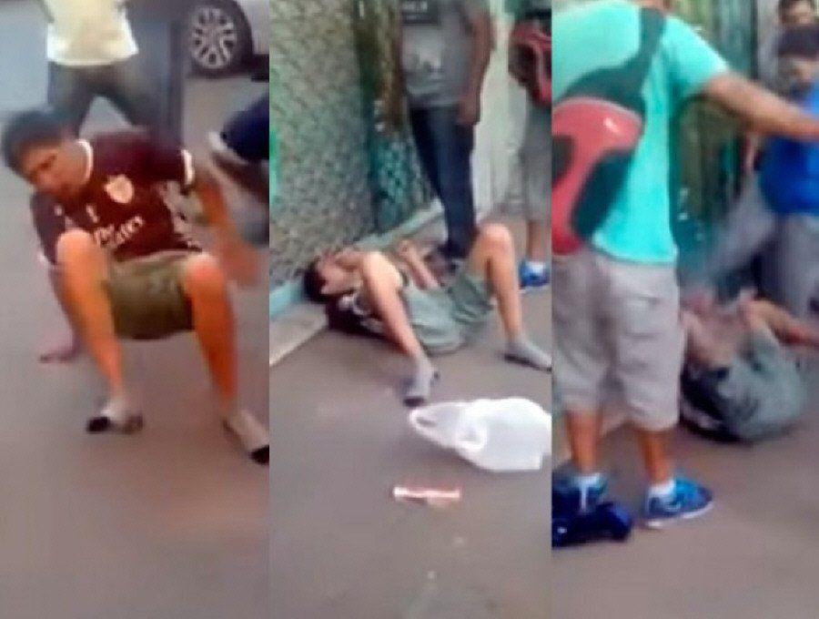 Casi linchan a ladrón que intentó asaltar a una mujer