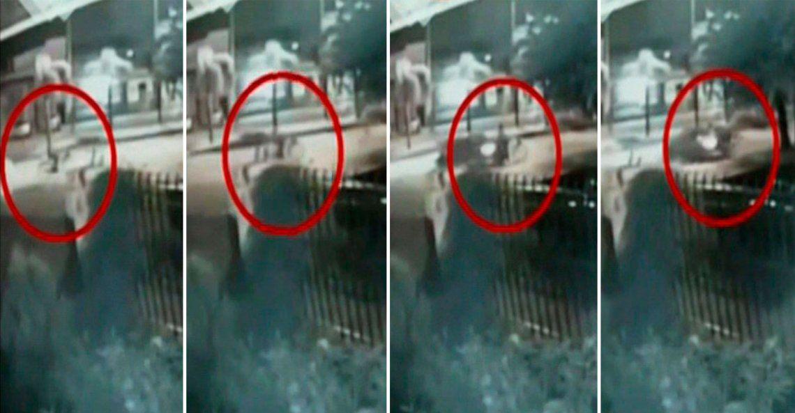 Video | Corría una picada en Burzaco y atropelló a una ciclista