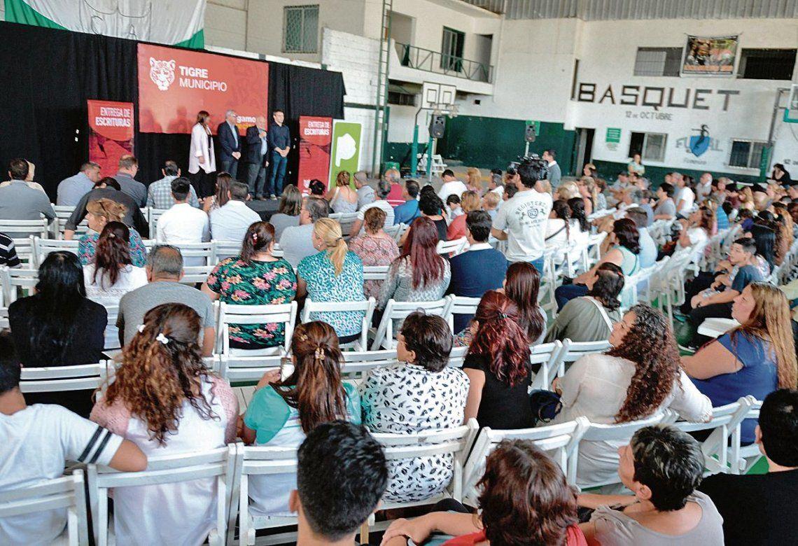 El acto se llevó a cabo en las instalaciones del club 12 de Octubre de Benavídez