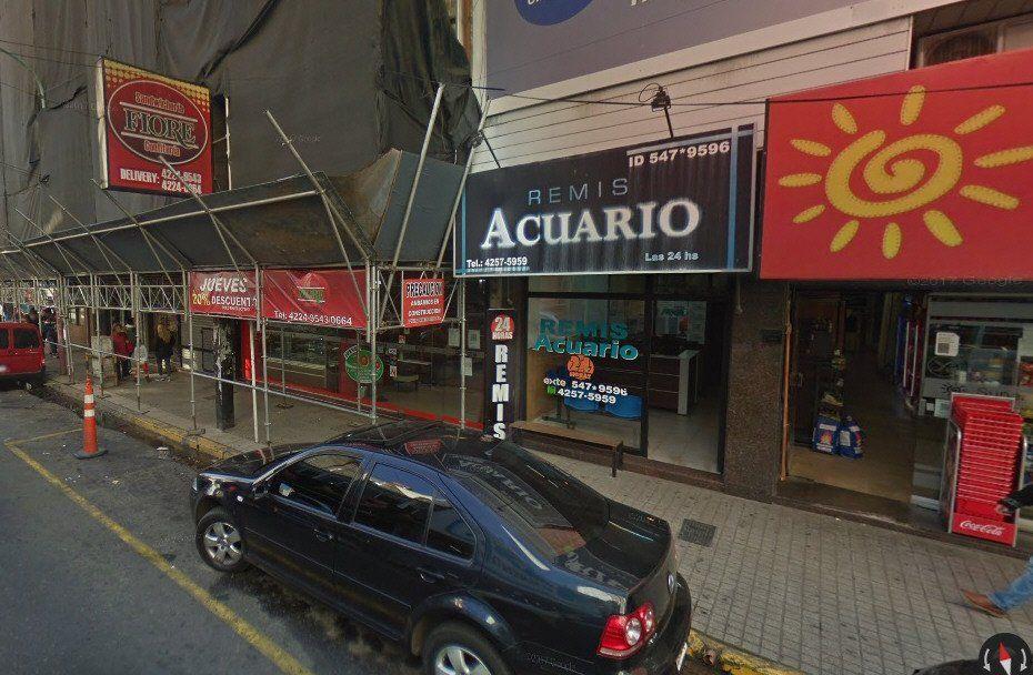 La joven tomó el remis en la agencia Acuario ubicada en Lavalle al 600