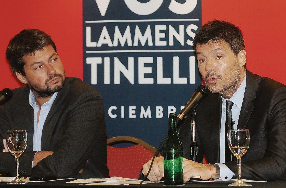Matías Lammens y Marcelo Tinelli