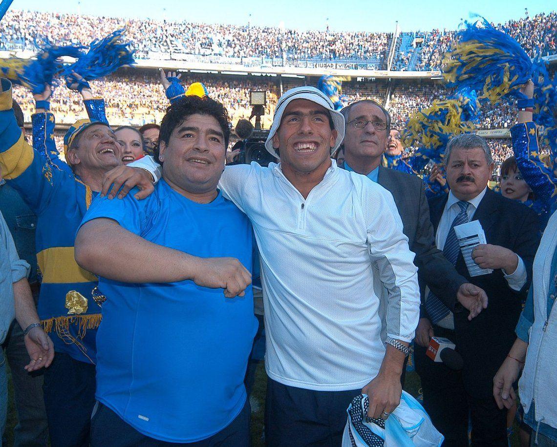 Maradona bancó al Apache en su vuelta a Boca: Tevez no traiciona