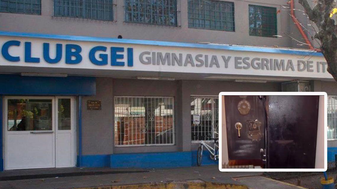Boqueteros se llevaron dos millones de pesos de la caja fuerte de un club en Ituzaingó