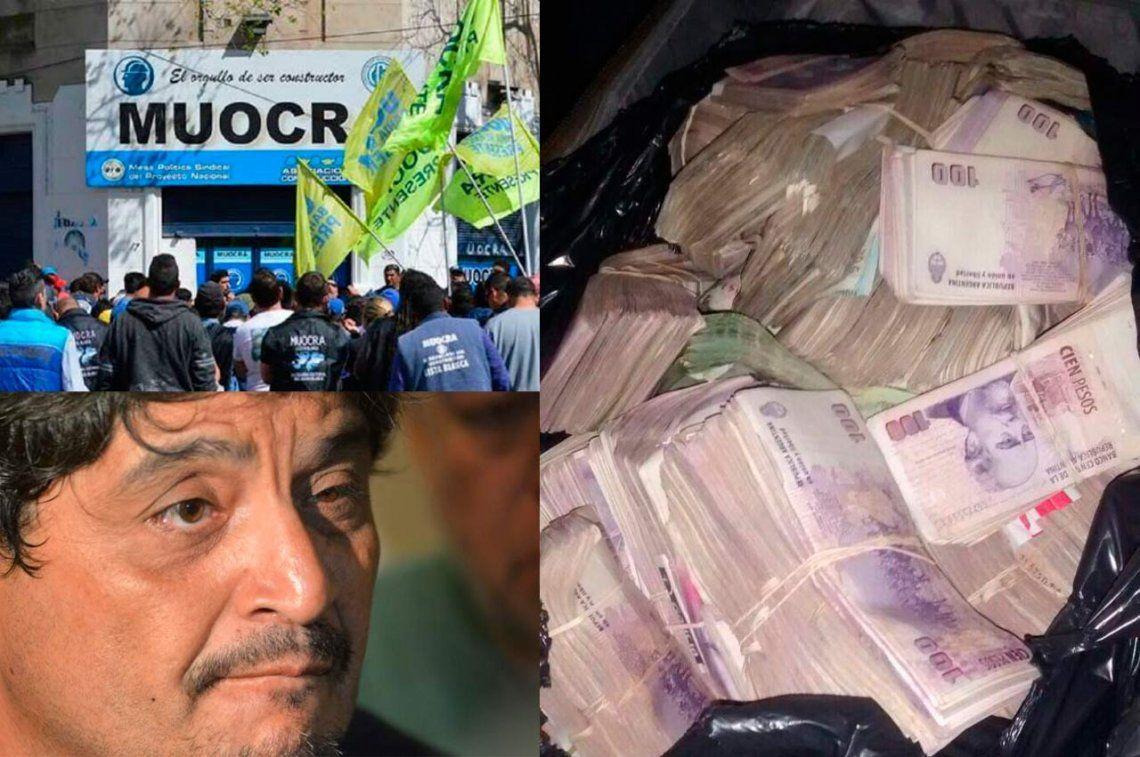 El líder de la UOCRA: las fotos del dinero incautado a Humberto Montero en su casa