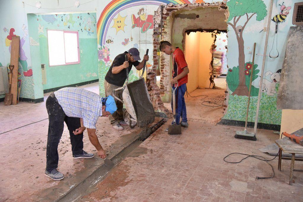 Remodelan tres centros de cuidado infantil en San Martín