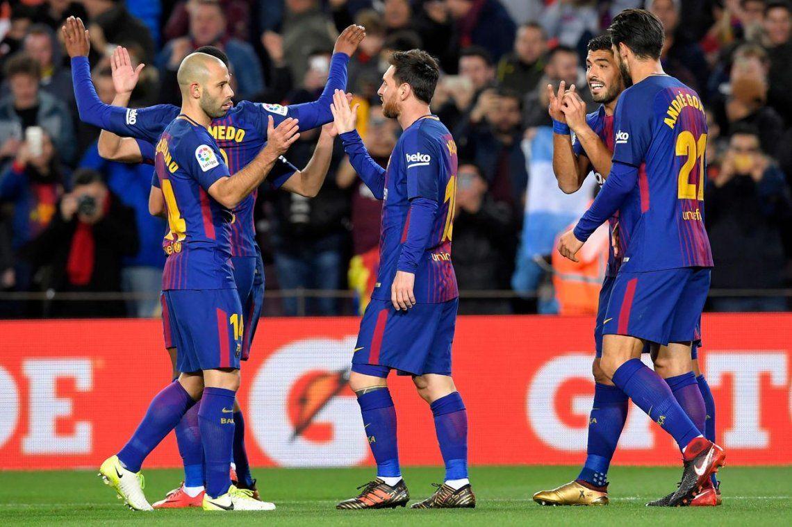 Barcelona arrasó a Celta con dos goles de Messi