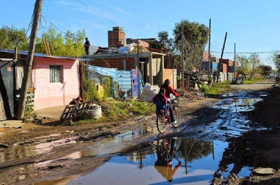 Villa Inflamable con el 40 por ciento de contaminados