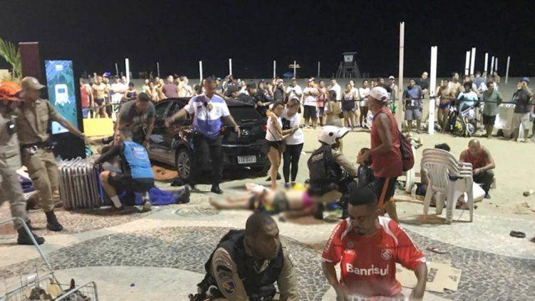 15 personas heridas en atropello masivo en Río de Janeiro