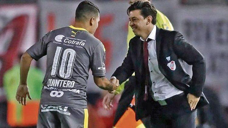 dEn su carpeta, Gallardo tenía visto a Quintero, con quien se enfrentó en la última Libertadores cuando DIM visitó Núñez.
