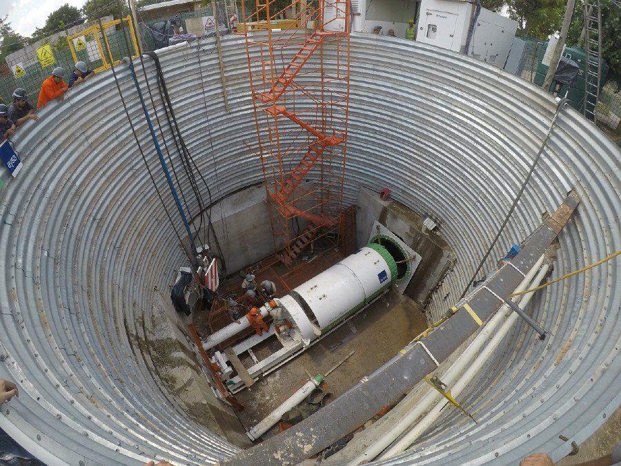 Bajada de tunelera en Esteban Echeverría