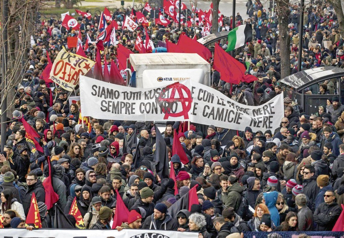dLa movilización se realizó en la ciudad de Macerata.