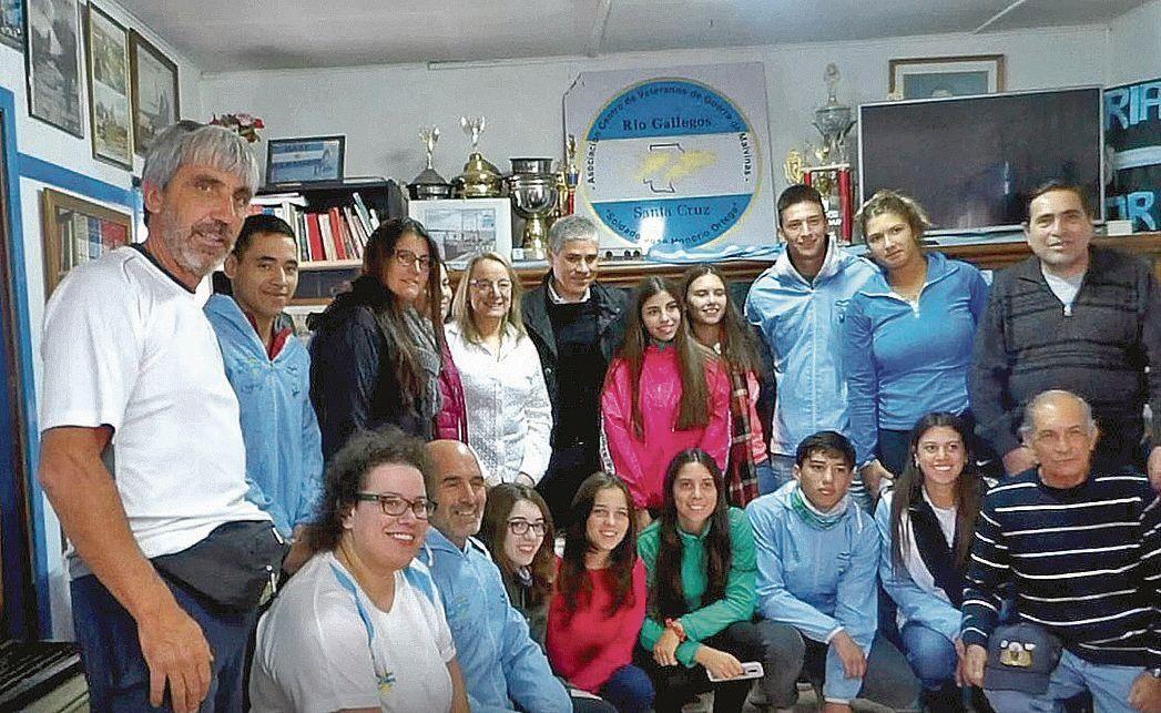 dEl grupo de alumnos del Nacional Nº 3 de Balcarce en Río Gallegos