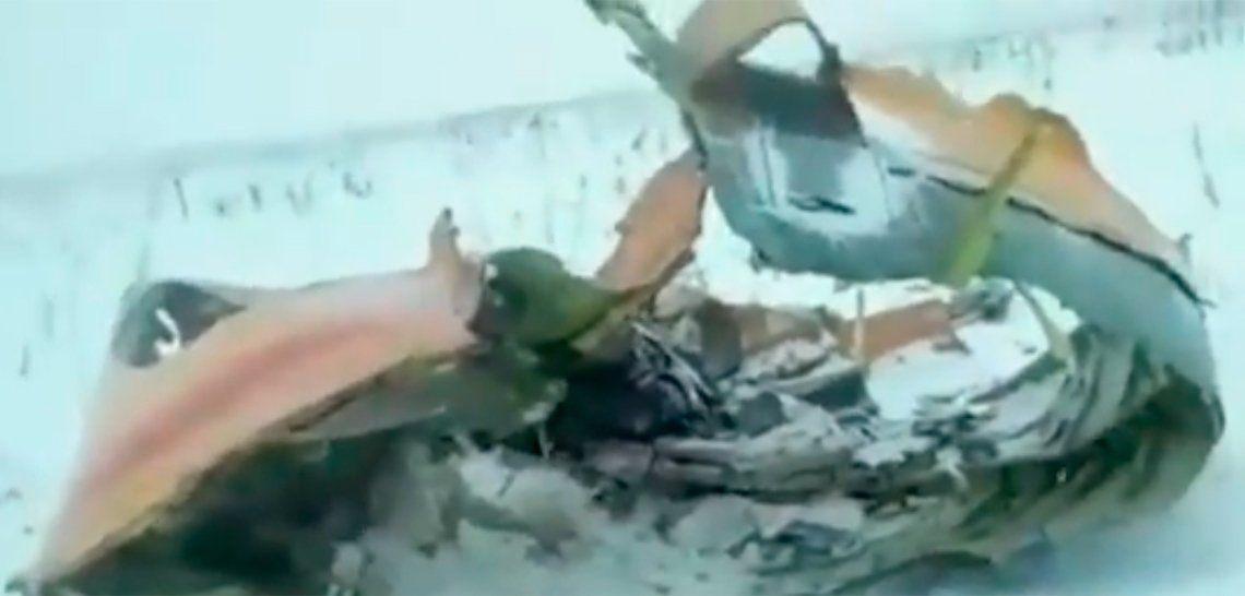 Las primeras imágenes de lo que dejó la tragedia del avión ruso