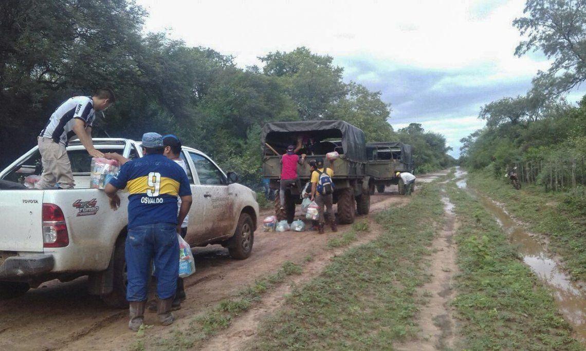 Salta: vuelven a evacuar a pobladores por intensas lluvias